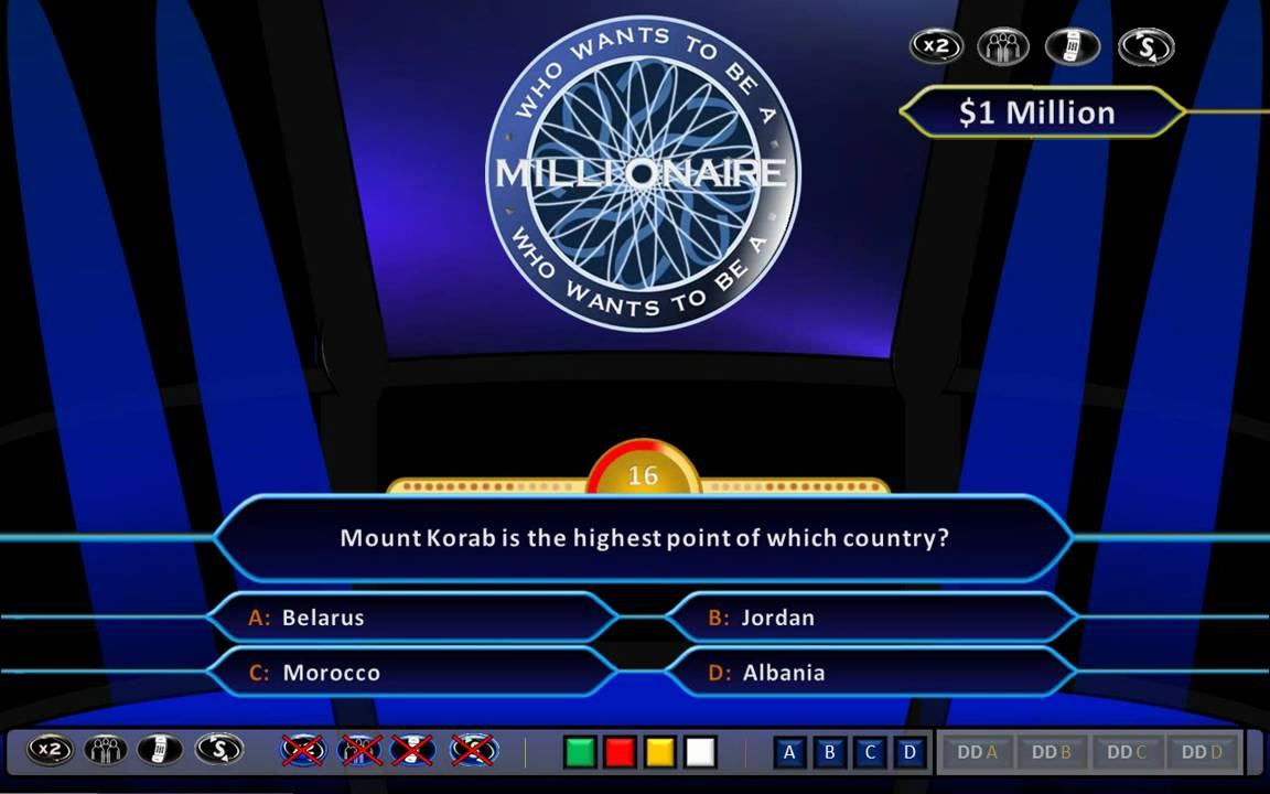 Who wants to be a millionaire national daily newspaper for Who want to be a millionaire game template