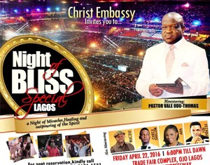 Lagos agog as Night of Bliss Special holds this Friday