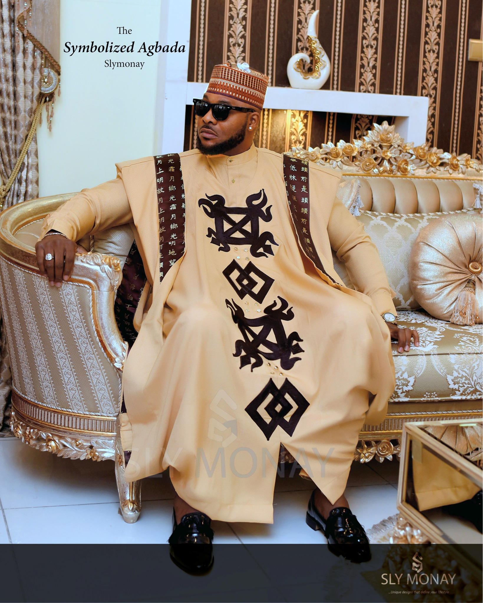 Nigerian Top Fashion Designer Sly Monay Presents Symbolized Agbada National Daily Newspaper