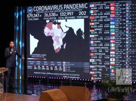 Pastor Chris declares Covid-19 dead at Global Day of Prayer with over 3 billion participants