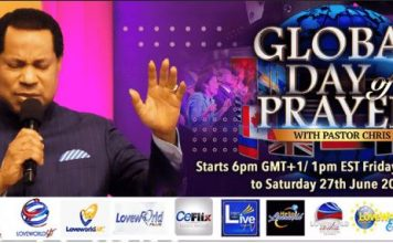 Pastor Chris set to network 5billion people at his Global Day of Prayer today