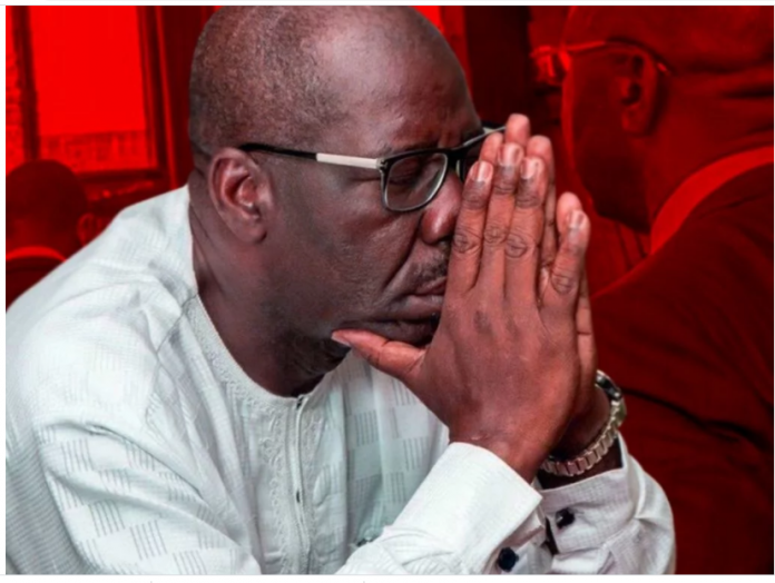 EDO: Ize-Iyamu, other losers gang up against Obaseki at tribunal to examine pre-election matters | Daily's Flash obaseki 1 696x524  EDO: Ize-Iyamu, other losers gang up against Obaseki at tribunal to examine pre-election matters | Daily's Flash obaseki 1 696x524