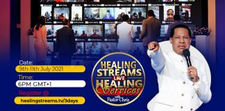 Pastor Chris brings healing power of God in three days live streaming services to the world