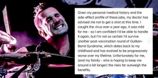 Offspring Band boots drummer for refusal to get COVID vaccine — even though he has natural immunity